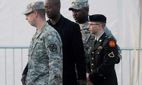 Secrets: US Army Private Chelsea (formerly Bradley) Manning is escorted from a courtroom in 2012