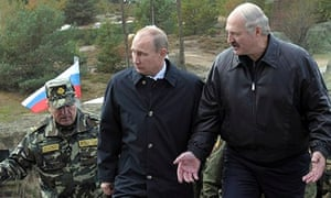 Putin Visits Lukashenko