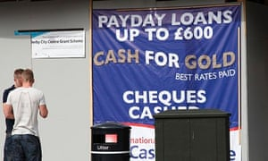 A sign for payday loans and cash for gold