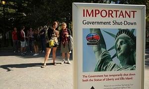 US shutdown, Statue Of Liberty