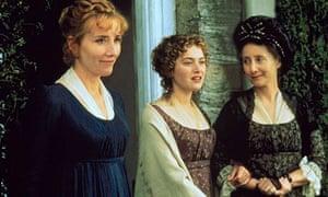 Emma Thompson, Kate Winslet and Gemma Jones in Thompson's screen adaptation of Sense and Sensibility
