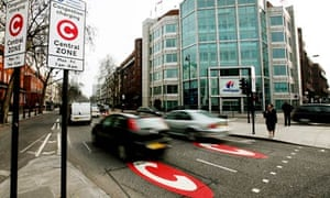 London congestion zone entry point