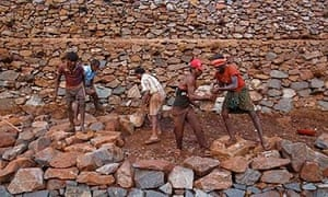 Iron ore miners in Karnataka, India