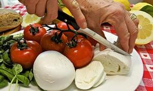 tomatoes and mozzarella salad