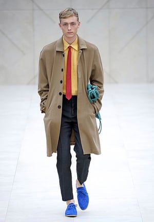 The Hockney look on the Burberry catwalk