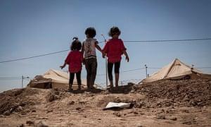 Syrian children at refugee camp in Jordan