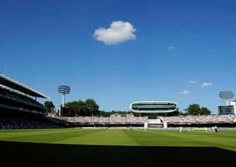 A solitary cloud floats over Lord's during the 2nd Ashes Test between England and Australia, in 2013