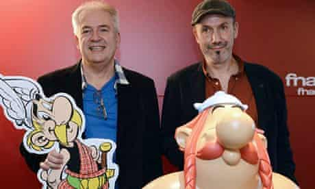 Didier Conrad (l) and French Jean-Yves Ferri, the team behind the new Asterix adventure.
