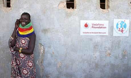 Vodafone Fourndation – Kenyan woman talking on phone