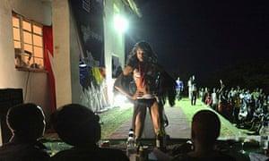 Miss Jacaranda drag queen contest in Zimbabwe