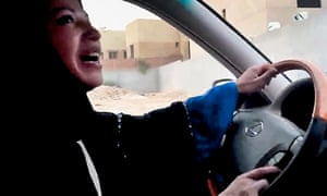 An image released by Change.org shows a Saudi woman driving a car