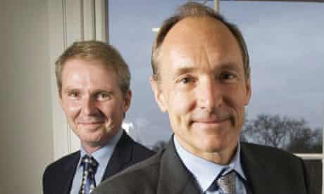 Sir Nigel Shadbolt (left) and Sir Tim Berners-Lee