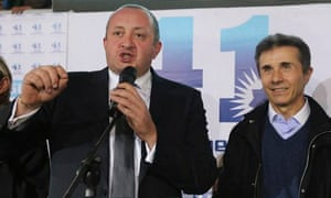 Presidential candidate Giorgi Margvelash and Bidzina Ivanishvili