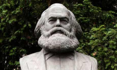 Large bust of Karl Marx in former east Berlin, Germany