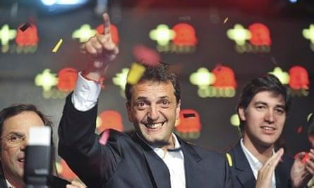 Sergio Massa, winner in the Tigres constituency of Buenos Aries for the Renewal Front party