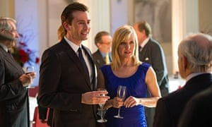 The Escape Artist: Will and Kate Burton at a party