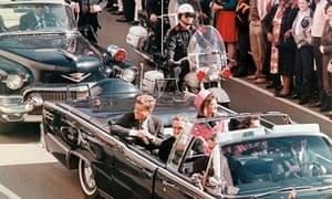 Kennedys riding in Dallas motorcade
