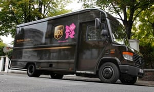 A UPS delivery truck in London, England, U.K. Image shot 08/2011. Exact date unknown.