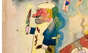 Detail from Sunny Land, by George Grosz (Richard Nagy gallery)
