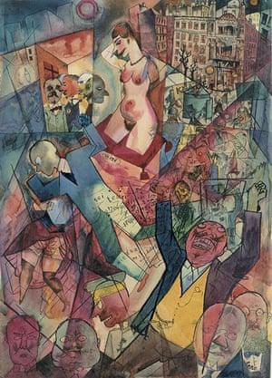 George Grosz's Down with Liebknecht, 1918. Courtesy Richard Nagy gallery