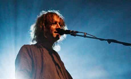 Kevin Shields at the Roundhouse in London, in 2008.