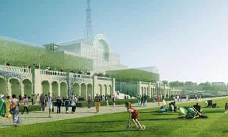Artist's impression of how the rebuilt Crystal Palace would look.