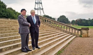 Boris Johnson and Ni Zhaoxing at the Crystal Palace launch event.