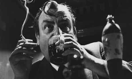 Ian Nairn drinking in a pub