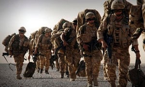 Royal Marines heading to Kajaki in Helmand province.