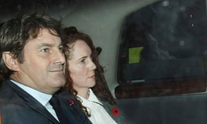 Rebekah Brooks leaves the Old Bailey with Charlie Brooks