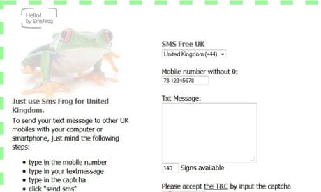 What's the easiest way to send SMS messages from a PC
