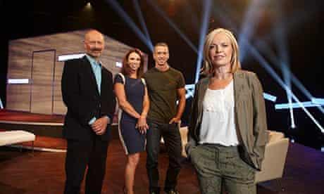 Mariella Frostrup with fellow presenters Phillip Hodson, Tracey Cox and Dan Savage.