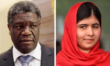 Denis Mukwege and Malala Yousafzai