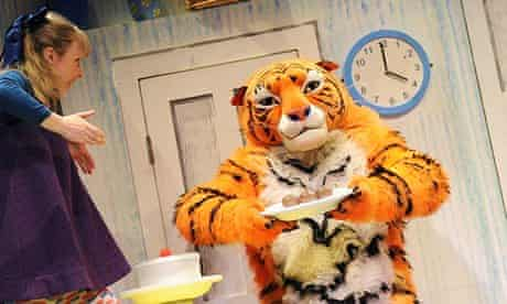 A scene from The Tiger Who Came to Tea by Judith Kerr at the Vaudeville Theatre