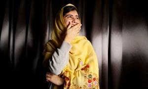 Malala laughing