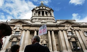 Protest legal aid Old Bailey