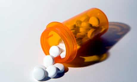 Spilled pill bottle, close-up for stephen moss surgeries piece