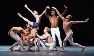 Melissa Hamilton surrounded by dancers on stage at the Roya