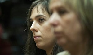Spanish pianist Laia Martin during her trial at Girona court.