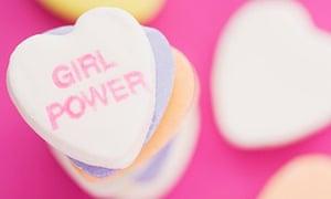 """love heart sweet with """"girl power"""" written on it"""