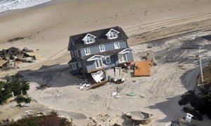 Damage in New Jersey in the aftermath of hurricane Sandy
