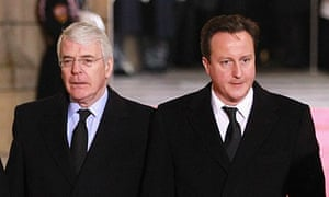 John Major and David Cameron … a difference of opinion.