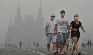 Russians duing the 2012 heatwave
