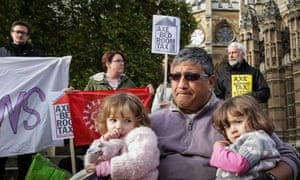 Anti-bedroom tax protesters