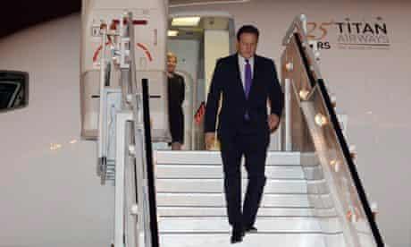 Cameron visits India