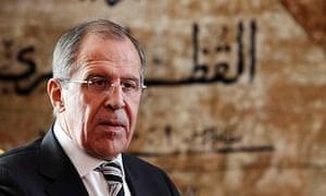 Lavrov in Cairo