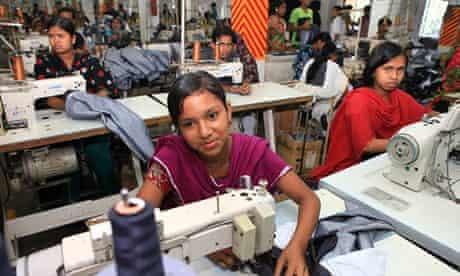 Worker in a Dhaka garment factory
