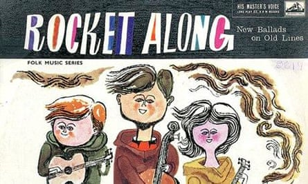 Folk album cober by Austin John Marshall: Rocket Along: New Ballads on Old lines