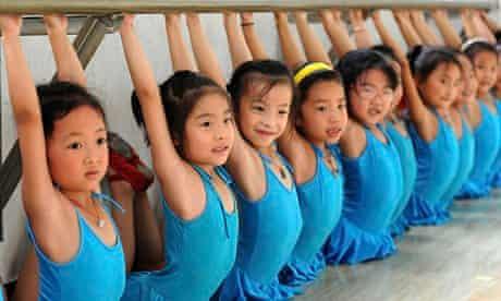 Children at a dance class in Huoqiu, Anhui Province.
