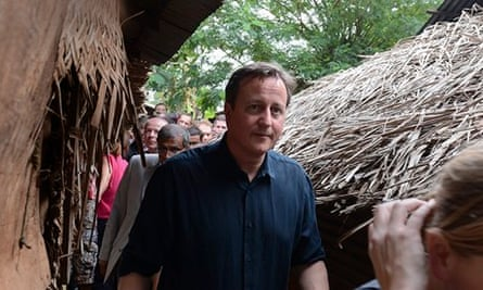 David Cameron at a welfare centre in Jaffna